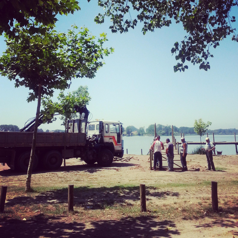 E começaram os trabalhos de recuperação/melhorias do Parque Ribeirense da Pateira... finalmente..